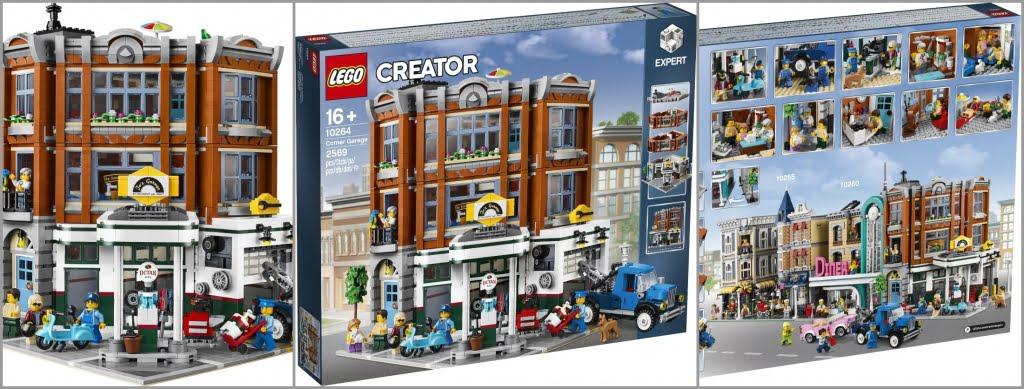 2019 Modüler Seti LEGO Creator Expert Corner Garage (10264